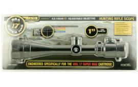 """BSA 17SM624X44AO 17 Super Mag 6-24x 44mm AO Obj 16.6-4.8 ft @ 100 yds FOV 1"""" Tube Dia Black Super Mag 17"""