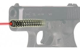 LaserMax LMS-1161-G4 Guide Rod Red Laser for Glock 26/27 Gen 4 Black