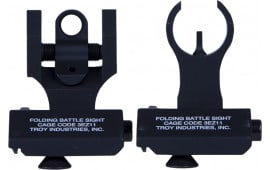 Troy Ind SSIG45SHRBT 45 Degree Folding Battle Sights HK Front and Round Rear Black