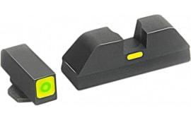 AmeriGlo GL605 CAP Night Sight Glock 42/43 Tritium/Paint Green w/Lime Outline Black
