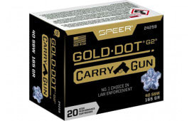 Speer 24259 40 S&W 165 GDHP Carry GUN - 20rd Box