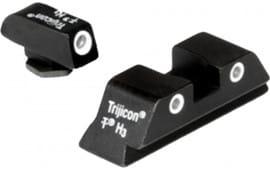 Trijicon 600227 Bright & Tough Night Sights Glock 20/21/29/30/36/41 Tritium Green Black