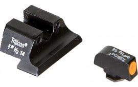 Trijicon 600543 HD Night Sights Glock 20/21/29/30/36/41 Tritium/Fiber Optic Green Tritium Orange Black