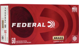 Federal WM5221 10MM Ammunition, Brass Cased, Boxer Primed, Reloadable, 180 Grain FMJ - 50 Round Box