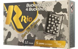 RIO Ammunition RB1227 Royal Buck 12GA 2.75IN 4BUCK 27P - 5sh Box