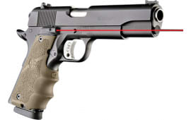 Hogue 45083 Laser Enhanced Grip 1911 Government Model Infrared Laser Flat Dark Earth