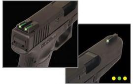 TruGlo TG131MPTY Brite-Site TFO S&W M&P Tritium/Fiber Optic Green Front Yellow Rear Black