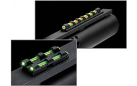 TruGlo TG94D Gobble-Dot Universal Shotgun Fiber Optic Green/Red Fiber Optic Green Black