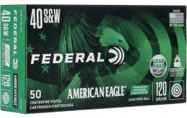 Federal AE40LF1 40 120 Leadfree Range - 50rd Box