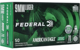 Federal AE9LF1 9mm 70 Leadfree Range - 500 Round Case