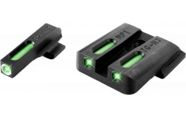 TruGlo TG13MP1A TFX Day/Nigth Sights S&W M&P Tritium/Fiber Optic Green w/White Outline Front Green Rear Black