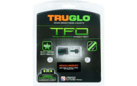 Truglo TG131NT2 TFO 1911 Government w/Novak LoMount 1911 Pistol Tritium/Fiber Optic Green Black