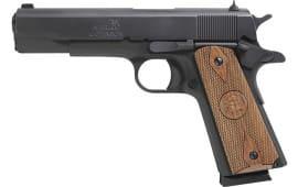 "Iver Johnson Arms 1911A138 Johnson 1911A1 Standard .38 Super 5"" FS Matte Wood"