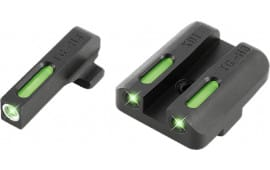 TruGlo TG13XD1A TFX Day/Night Sights Springfield Xd/xd-s/xd(m) Tritium/Fiber Optic Green w/White Outline Front Green Rear Black