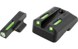 TruGlo TG13NV4A TFX Day/Night Sights 1911 Pistol Tritium/Fiber Optic Green w/White Outline Front Green Rear Black