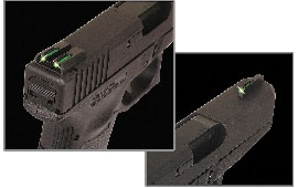 Truglo TG131ST1Y Brite-Site TFO Fiber Optic #8 Sig Sauer Fixed Green Front/Yellow Rear Black