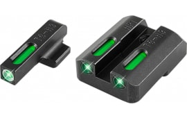 TruGlo TG13HP1A TFX Day/Night Sights HK P30 Tritium/Fiber Optic Green w/White Outline Front Green Rear Black