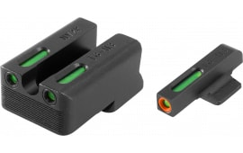 TruGlo TG13NV3PC TFX Day/Night Sights Novak 260/500 Green w/Orange Outline Front Green Rear Black