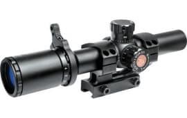 TruGlo TG8516TL TruBrite 1-6x 24mm Obj Wide FOV 30mm Tube Dia Black Matte Illuminated Duplex