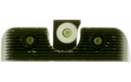 Truglo TG231B1W Tritium Pro Night Sights Beretta PX4 Steel Green Tritium w/White Outline Steel Green Tritium Black