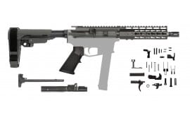 "9mm AR-15 Complete Pistol Kit Minus Lower Reciever - CBC Industries 7.5"" Barrel"