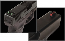 TruGlo TG131G2 Brite-Site Fiber Optic Glock 20/21/29/30/31/32/37 Fiber Optic Green/Red Black