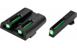 TruGlo TG131GT1 Brite-Site TFO Glock 17/19/22/23/24/26/27/33/34/35/38/39 Tritium/Fiber Optic Green Black