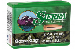 Sierra 9362 Bull .224 62 SBT Gameking 100