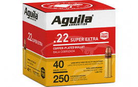 Aguila 1B221100 22 LR High Velocity Solid Point, 40 GR 250/2000 - 2000 Round Case