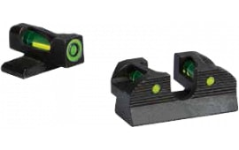 Sig Sauer Electro-Optics SOX11013 X-Ray1 #8 Green Front #8 Rear Round Notch Pistol Fiber Optic Green Black