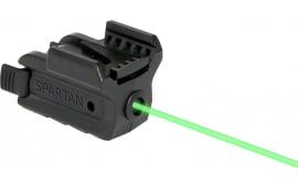 "LaserMax Spsg Spartan Green Laser 520nm Minimum 1"" Picatinny/Weaver Rail Black"