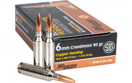 Sig Sauer E6MMCM1-20 6mm Creedmoor 80 Elite Hunter - 20rd Box