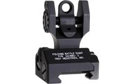 Troy FBSTTBT00 Battle Sight Rear Tritium Di-Optic Aperture Folding Universal Black