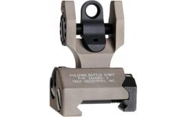 Troy FBSTTFT00 Battle Sight Rear Tritium Di-Optic Aperture Folding Universal DE