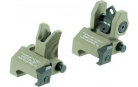 Troy Ssigmcmssft Battle Sight Micro Set M4 Front/DOA Rear AR-15 Alum FDE