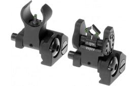 Troy MCMSTB01 Battle Sight Micro Set DOA Tritium Rear/M4 Front AR-15 Aluminum Black