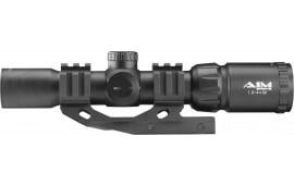 Aim Sports JTMR2 Recon 1.5-4x 30mm Obj 36.6 ft @ 100 yds FOV 30mm Tube Dia Black Matte Illuminated Mil-Dot