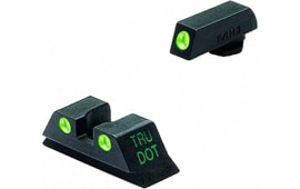Meprolight 10224 Tru-Dot NS Set For Glock 17/19/22/23/31-35/37/38 Fixed Tritium Grn