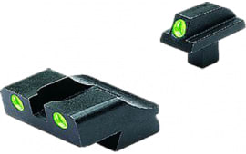 Meprolight 10776 Tru-Dot Handgun Night Sights Colt Government (New Models, .125 Tang) Tritium Green Black