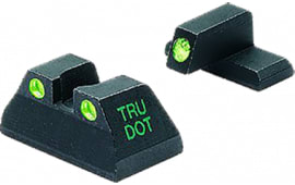Meprolight 11516 Tru-Dot Handgun Night Sights HK USP Full Size Tritium Green Black