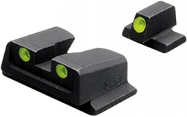 Meprolight 11766 Tru-Dot Night Sight Fixed Set S&W M&P 9/40 Full Size/Compact Tritium Green Tritium Green Black