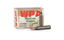 Wolf MC22355HP Military Classic .223 55gr HP Ammo - 500rd Case
