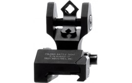 Troy DOARFBT00 Battle Sight Folding Rear DOA AR-15 Aluminum Black