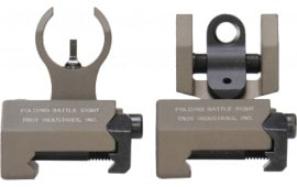 Troy Ind Ssigiarsmft Micro Set Front and Rear Sights Weapons w/Raised Top Rail Metal FDE