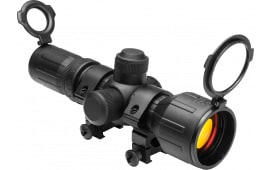 NCStar SEECR3942R Rubber Tactical 3-9x 42mm Obj 37.7-12.5 ft @ 100 yds FOV 30mm Tube Dia Black Illuminated P4 Sniper