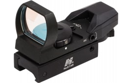NcStar D4RGB Red/Green Multi-Reticle 1x 24x34mm Obj Unlimited Eye Relief & Field of View 3 MOA Dot 4 Reticle Black