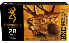 Browning Ammo B192200281 28 Nosler 155 GR BXC - 20rd Box