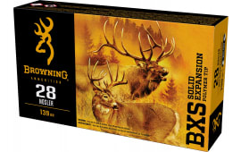 Browning Ammo B192400281 28 Nosler 139 GR Lead Free BXS - 20rd Box