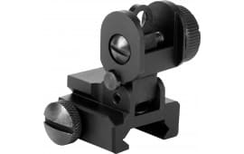 Aim Sports MT035 AR-15/M16 Flip Up Rear Sight Aluminum Black