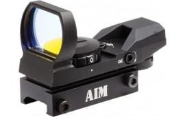 Aim Sports RT401 Reflex 1x 24x34mm Obj Illuminated Red Dot Sight, Unlimited Eye Relief 3 MOA Black